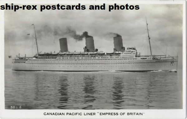 EMPRESS OF BRITAIN (1931, Canadian Pacific) postcard (e)